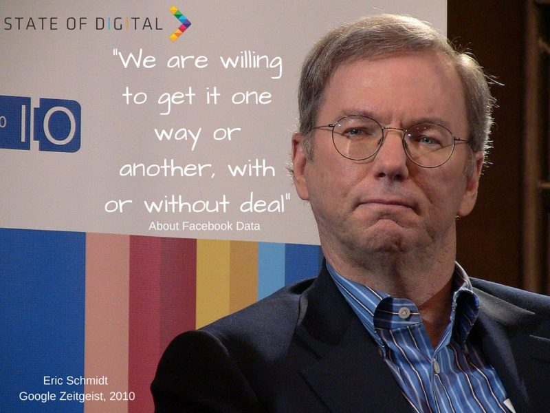 We are willing to get it one way or another, with or without deal - Eric Schmidt