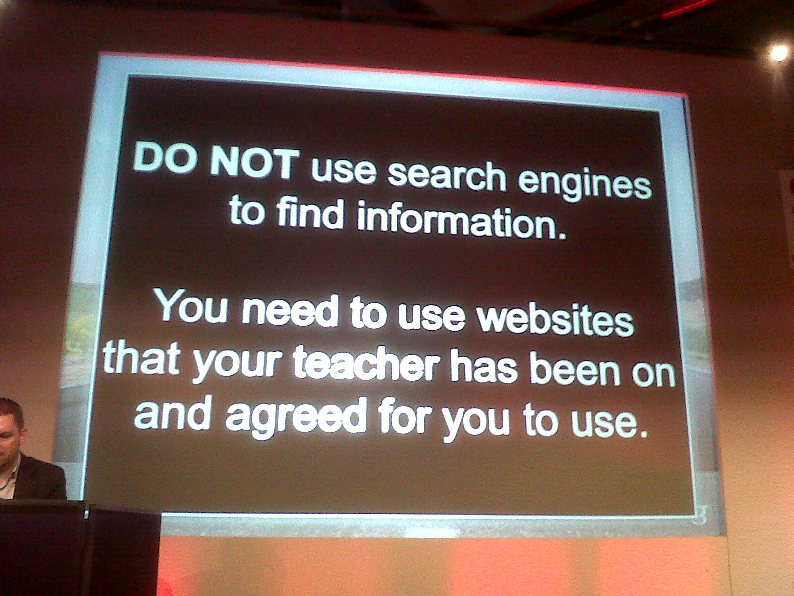 Don't use search engines!