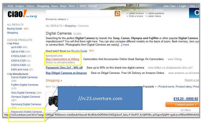 Ciao Sponsored Ads by Yahoo!
