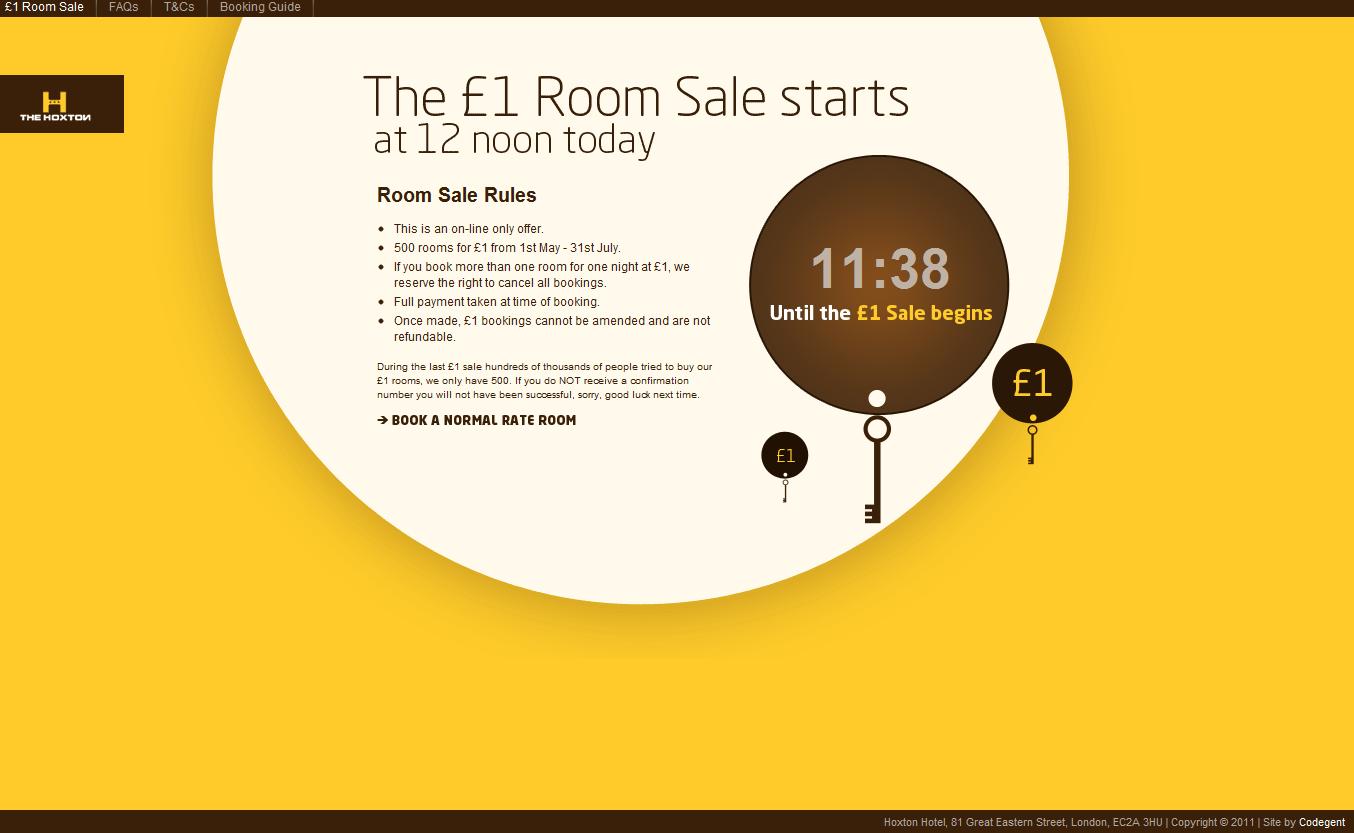 Hoxton Hotel Room Sale
