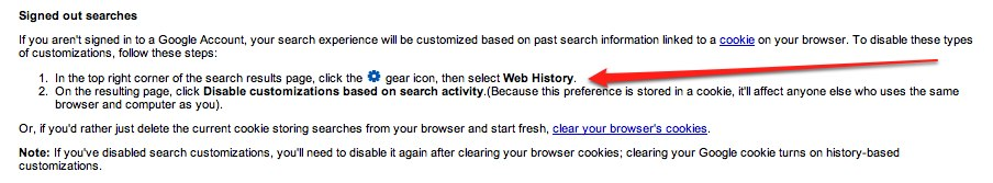 how to turn off web history on google