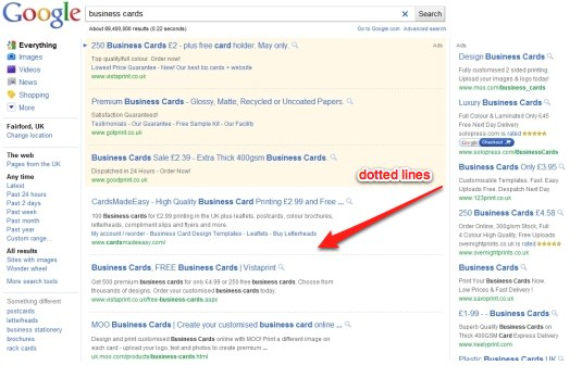 Google is testing new search result pages opinions on twitter dotted lines in reheart Images