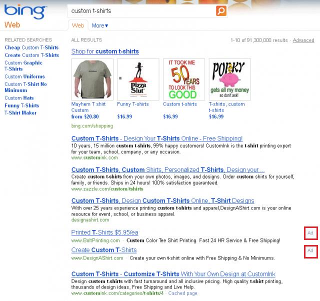 Bing Ads-Organic