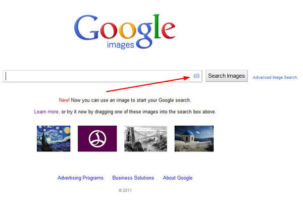 how to get on google image search