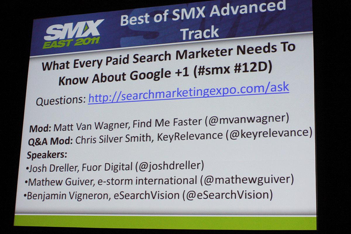 Google plus one slide