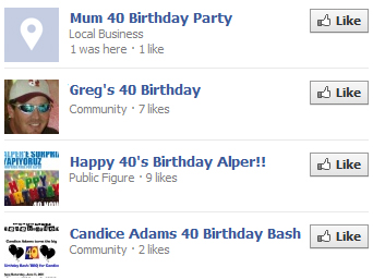Facebook Birthday Alerts