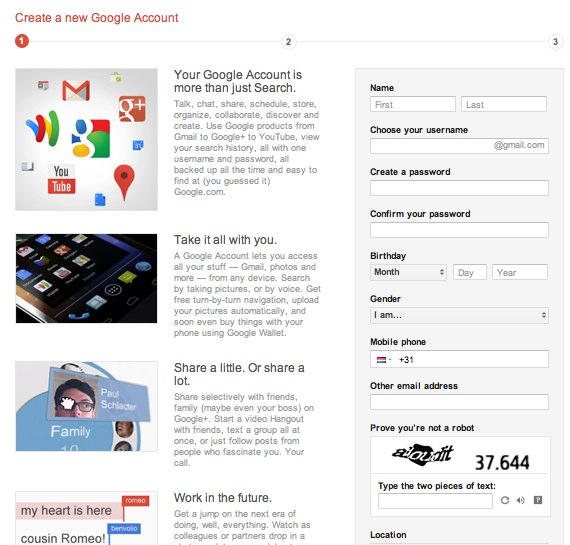 how to make a new google account