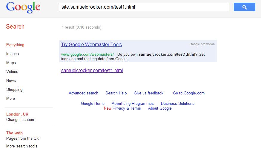 Google indexe une url noindex