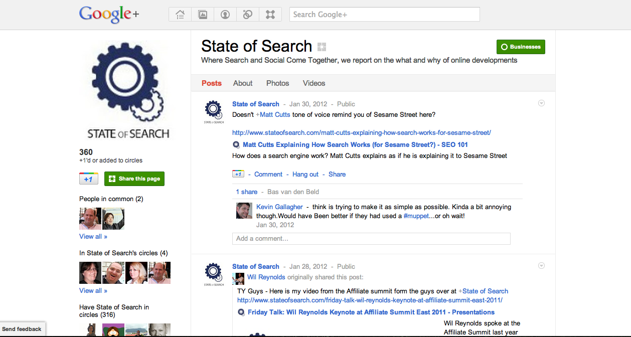 State of Search - Google+