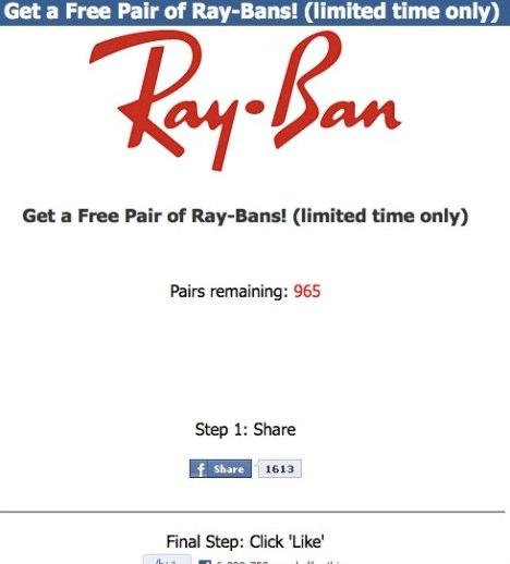 Free Ray Bans Facebook