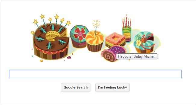Google Birthday Doodle: Google Celebrates Your Birthday