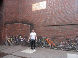 Alessio by the bikes