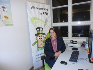 Jo Turnbull at the searchmetrics office