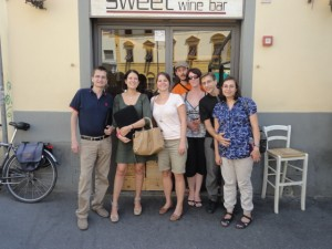 Jo Turnbull with the SEO Team in Florence