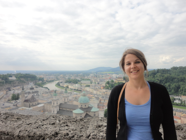 Jo Turnbull with a view of Salzburg