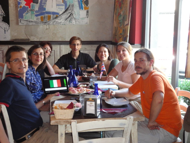 SEOs having lunch in Florence
