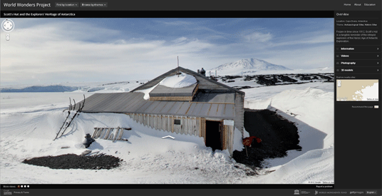 Explore Scotts Hut on the World Wonders Project