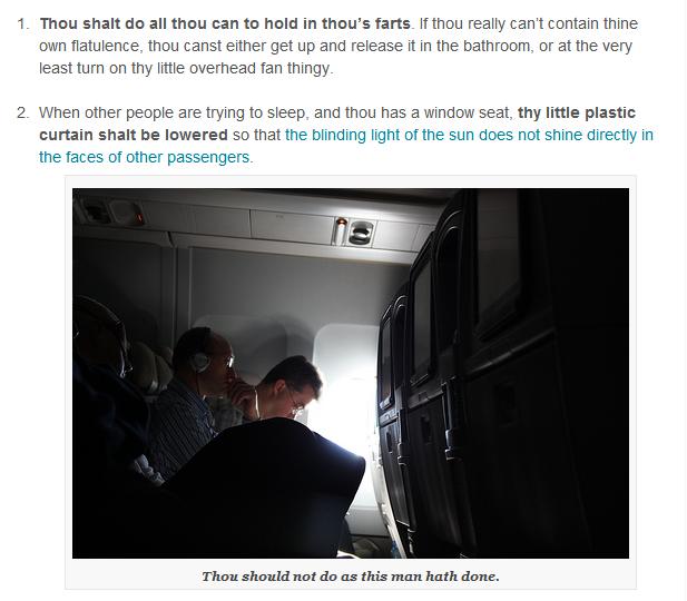 The Ten Commandments of Air Travel   Everywhereist.com