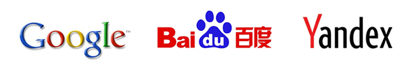 Global Search Engines: Google Baidu Yandex
