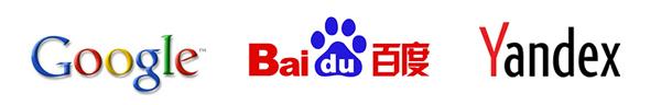 Global Search Engines: Google Baidu Yandex