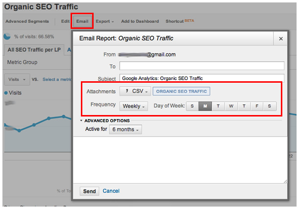 SEO email report