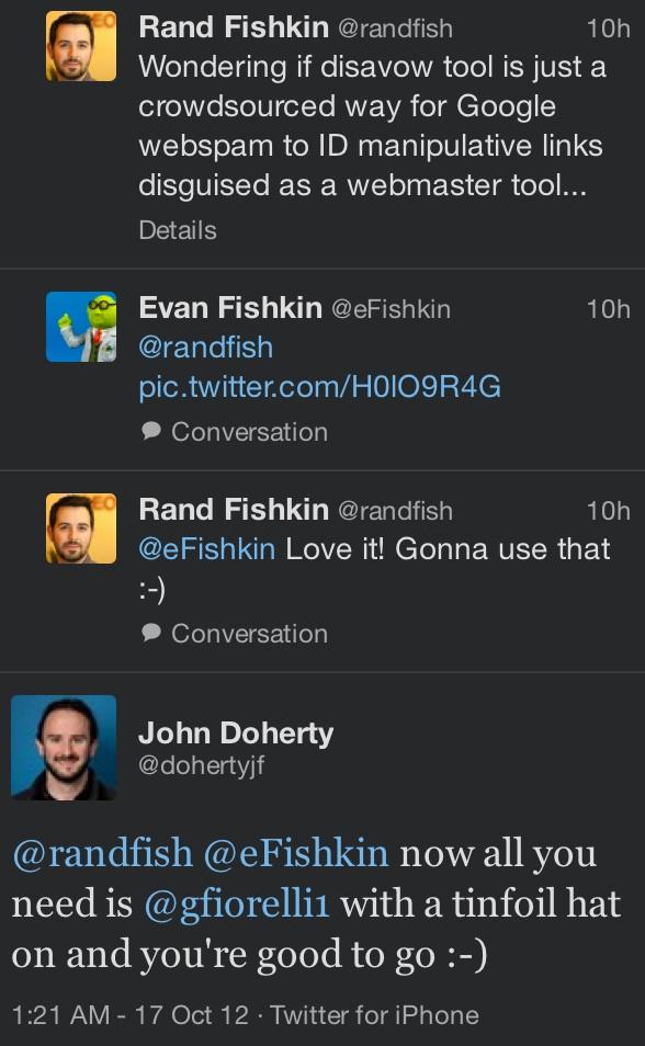 Disavow link tool conversation