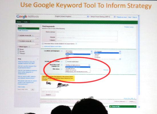 Google Keyword Tool for Mobile