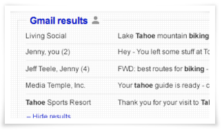 Mail Box in SERPs