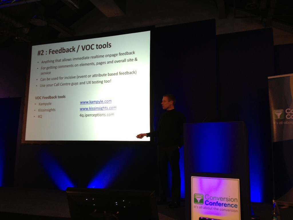Feedback & VOC Tools Craig Sullivan Conversion Conference London