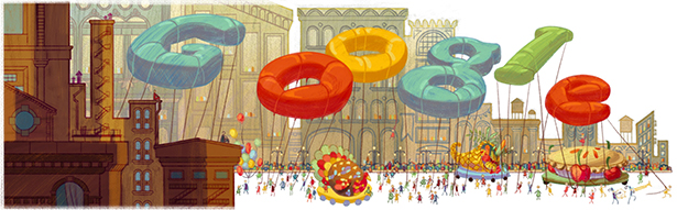 Thanksgiving doodle from Google 2012