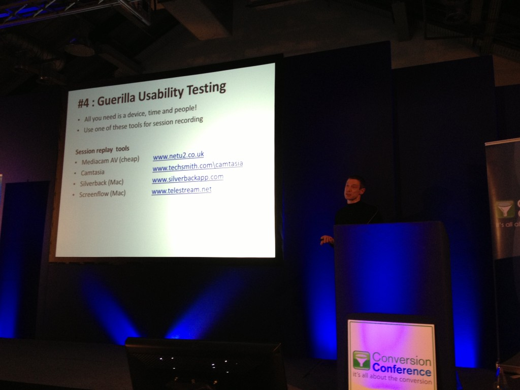 Guerilla Usability Tools Craig Sullivan Conversion Conference London