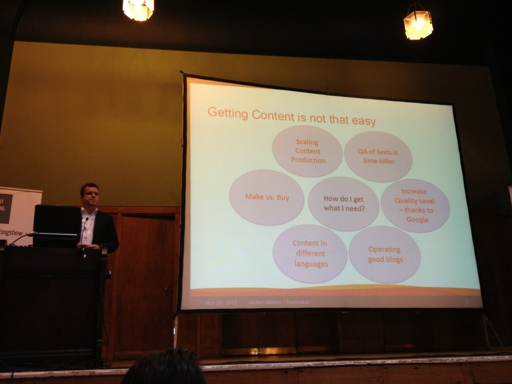 Jochen Mebus at the Content Marketing Show