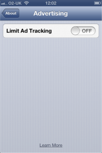 Limit Ad Tracking Apple iPhone