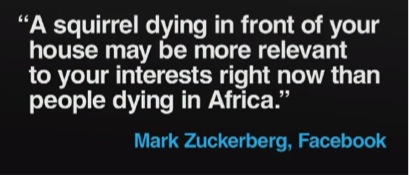 Mark Zuckerberg Quote on Relevancy