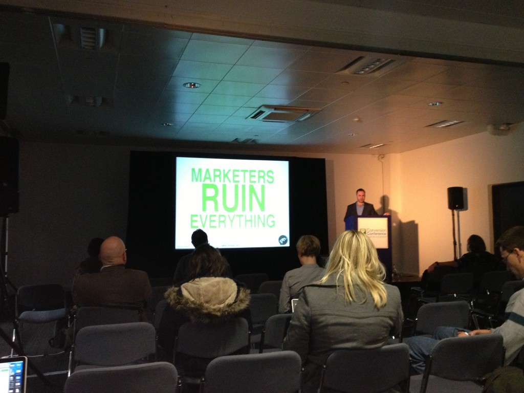 Marketers Ruin Everything by Brian Adams Conversion Conference