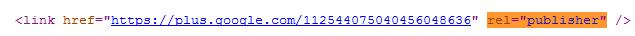 rel=publisher html