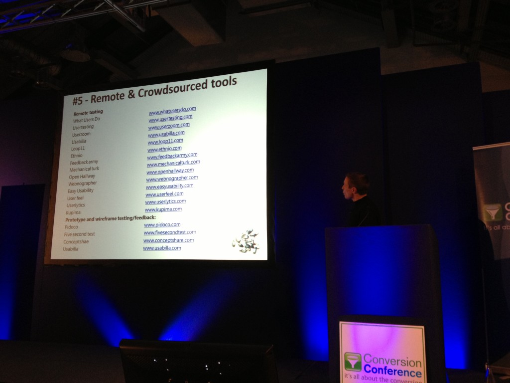 Remote & Crowdsourcing Tools Craig Sullivan Conversion Conference London