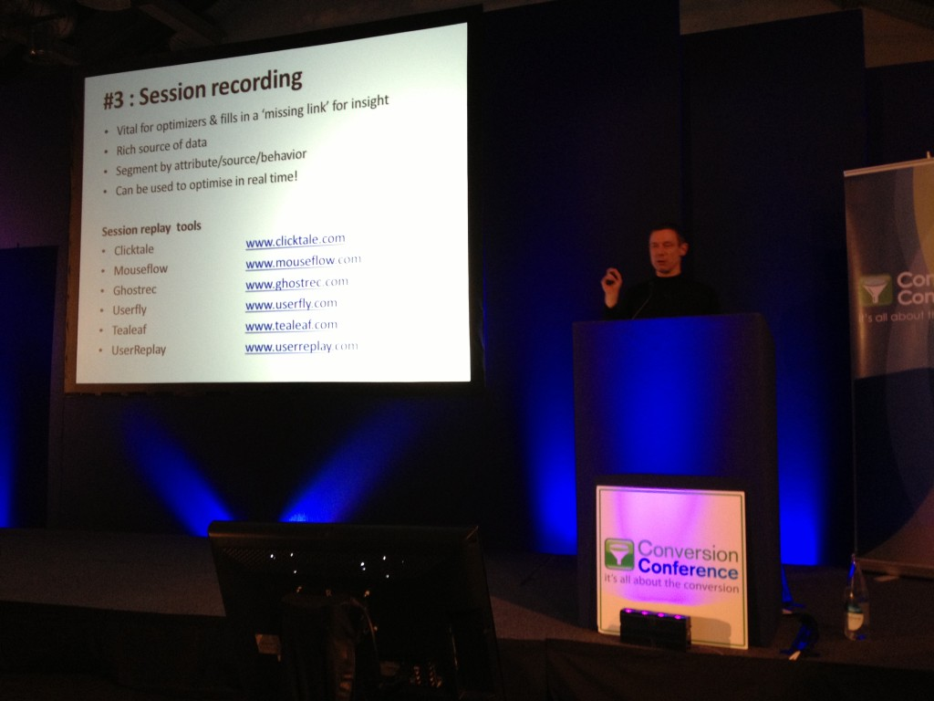 Session Recording Tools Craig Sullivan Conversion Conference London
