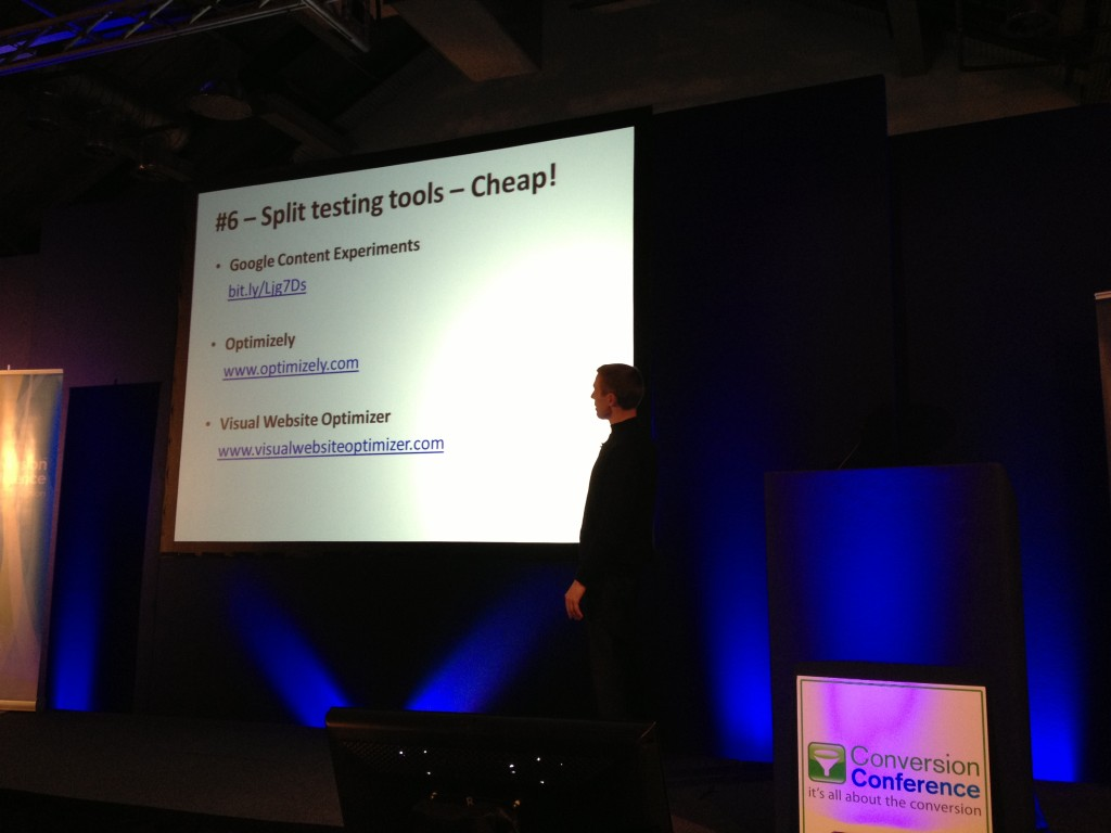 Split Testing Tools Craig Sullivan Conversion Conference London