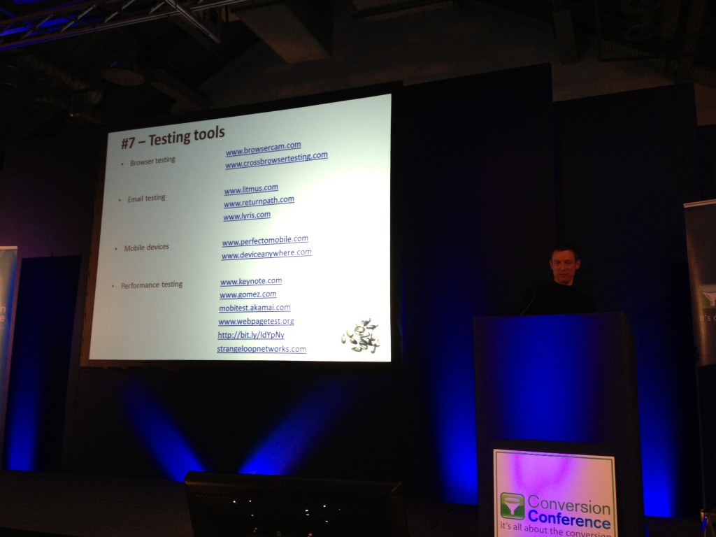 Usability Testing Tools Craig Sullivan Conversion Conference London