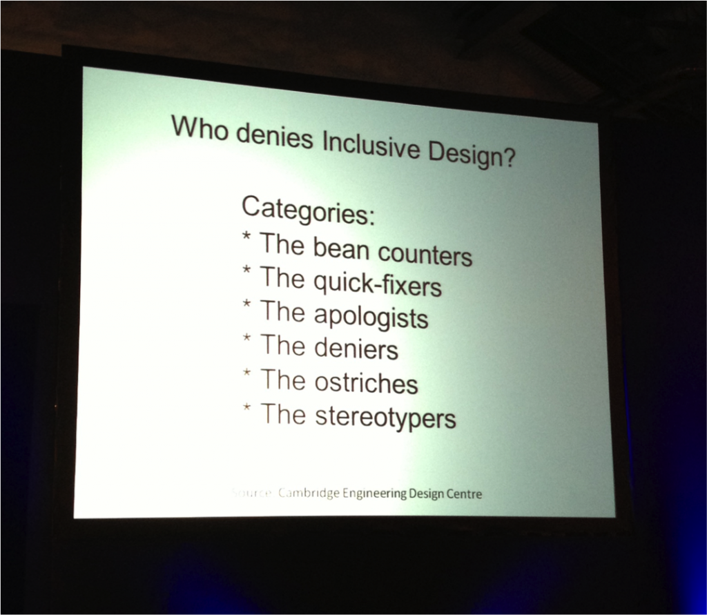 Who Denies Inclusive Design from the Conversion Conference