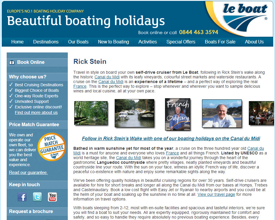 Le Boat - Creative and cost effective piggyback marketing