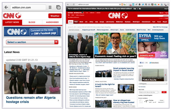 CNN Dynamic Serving Site