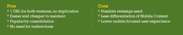 Responsive Web Design Pros & Cons