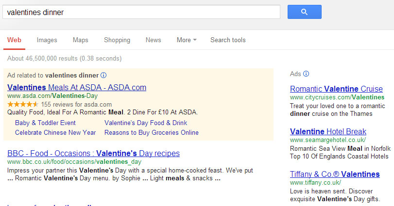Valentines Day ecommerce Gaps Fails Things to Fix – Asda Valentine Card
