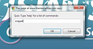 Quix command prompt