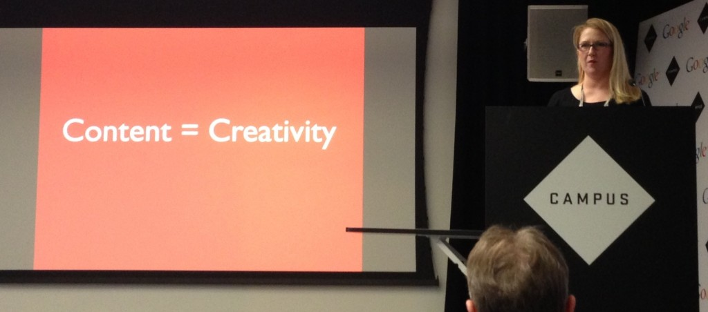 Lisa Myers talks about Creating Killer Content at #SearchLondon