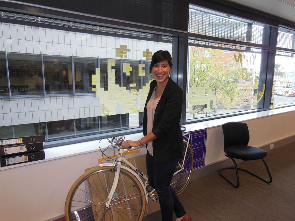 Annabel and her bike - Sydney, Australia