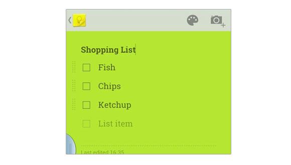 google-keep-shopping-list