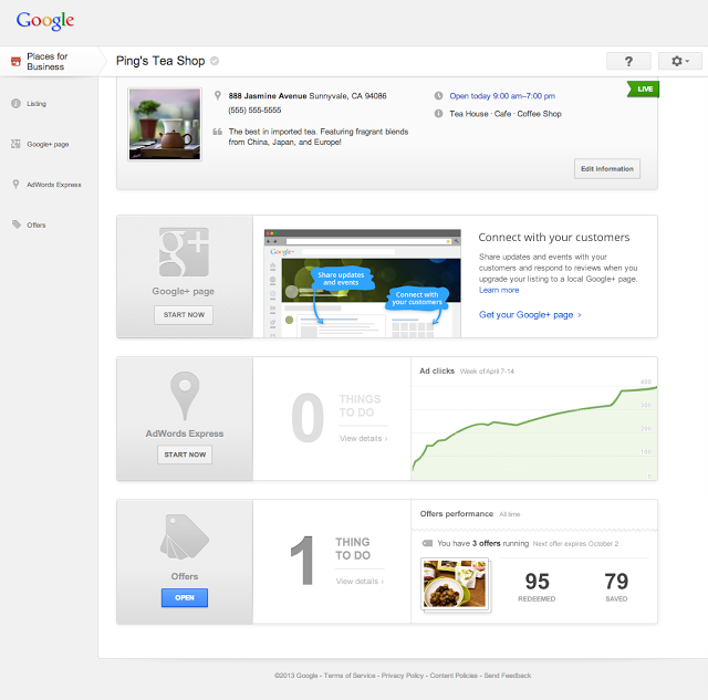 Google Places For Business New Dashboard